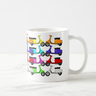 Scooter Rainbow Colors Coffee Mug