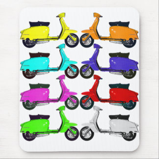 Scooter Rainbow Colors Mouse Pad
