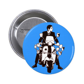 Scooter Rider 2010 6 Cm Round Badge