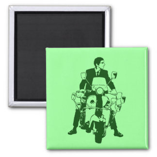 Scooter Rider 2010 green Magnet