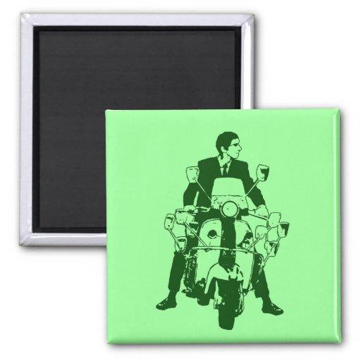 Scooter Rider 2010 green Fridge Magnet