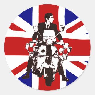 Scooter Rider UJ 2 Classic Round Sticker