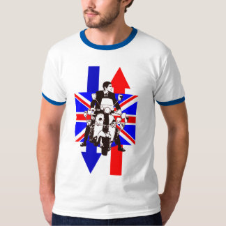 Scooter Rider with Union Jack background 2011 T-Shirt