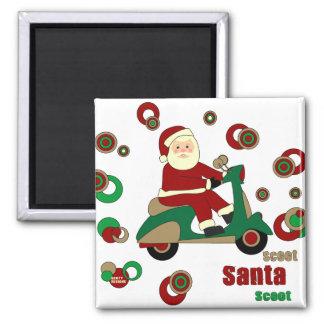 Scooter Santa Magnet