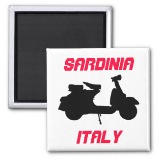 Scooter, Sardinia, Italy Square Magnet