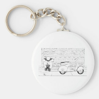 Scooter Skin Basic Round Button Key Ring