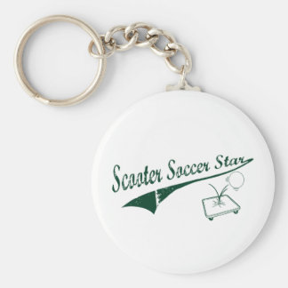 Scooter Soccer Star Keychains