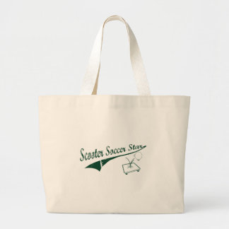 Scooter Soccer Star Tote Bags