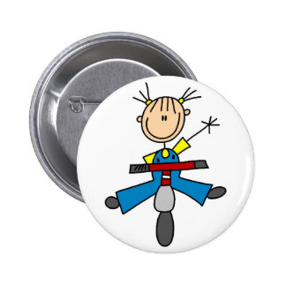 Scooter Stick Figure Button