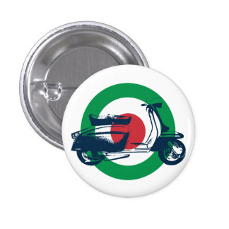 Scooter Target Italy 3 Cm Round Badge