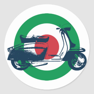 Scooter Target Italy (pack of 6/20) Round Sticker