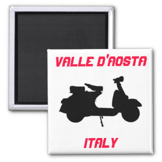 Scooter, Valle d'Aosta, Italy Square Magnet