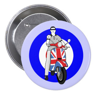 Scooterboy on uj scooter 7.5 cm round badge