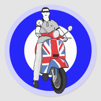 Scooterboy on uj scooter classic round sticker