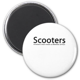 scooters 6 cm round magnet