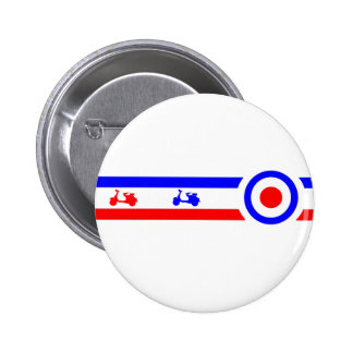Scooters Lines and Targets 6 Cm Round Badge