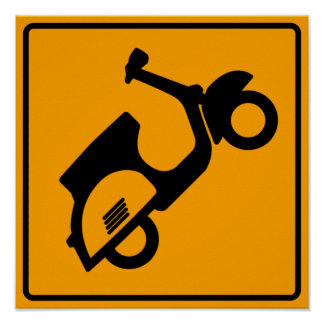 Scooters Road Sign Poster