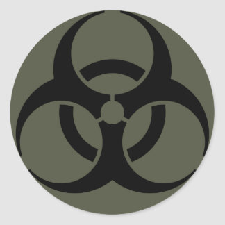 Scope Cap Sticker, Biohazard in Black Classic Round Sticker