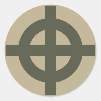 Scope Cap Sticker, Celtic Cross, Style 1 Round Sticker