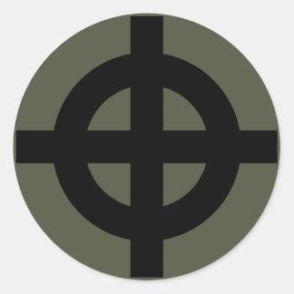 Scope Cap Sticker, Celtic Cross, Style 2 Round Sticker
