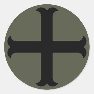 Scope Cap Sticker, Crusader Cross - Style 2 Round Sticker