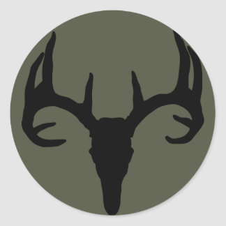 Scope Cap Sticker, Deer Skull Round Sticker