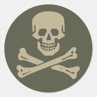 Scope Cap Sticker, Jolly Roger - Style 1 Round Sticker