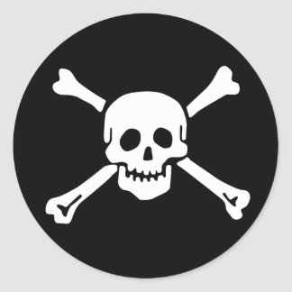 Scope Cap Sticker, Jolly Roger - Style 2 Classic Round Sticker