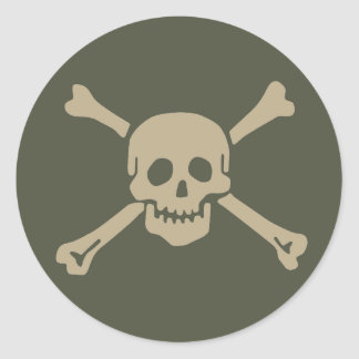 Scope Cap Sticker, Jolly Roger - Style 5 Classic Round Sticker