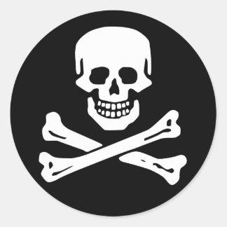 Scope Cap Sticker, Jolly Roger - Style 6 Round Sticker