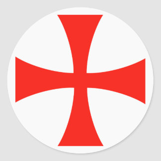 Scope Cap Sticker, Knights Templar Cross, Style 1 Classic Round Sticker