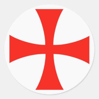 Scope Cap Sticker, Knights Templar Cross, Style 1 Round Sticker