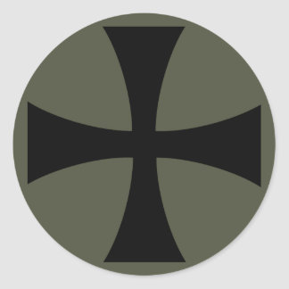 Scope Cap Sticker, Knights Templar Cross, Style 2 Classic Round Sticker