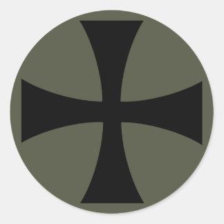 Scope Cap Sticker, Knights Templar Cross, Style 2 Round Sticker