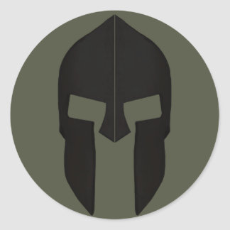 Scope Cap Sticker, Spartan Helmet - Style 1 Classic Round Sticker