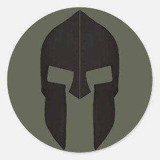 Scope Cap Sticker, Spartan Helmet - Style 1 Round Sticker