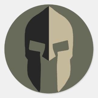 Scope Cap Sticker, Spartan Helmet - Style 2 Round Sticker