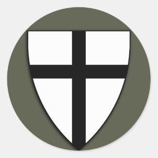 Scope Cap Sticker, Teutonic Knights Shield Round Sticker