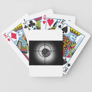Scope Crosshair Bicycle Poker Cards