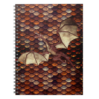 Scorched Bronze Dragon Scale Spiral Notebook