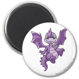 Scorchio Purple 6 Cm Round Magnet