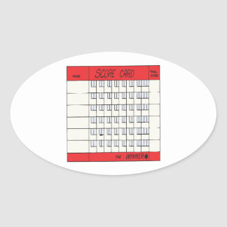 Score Card Oval Sticker