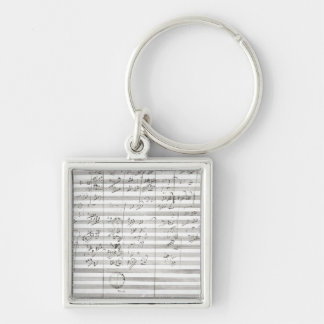 Score for the 3rd Movement of the 5th Symphony Key Chains
