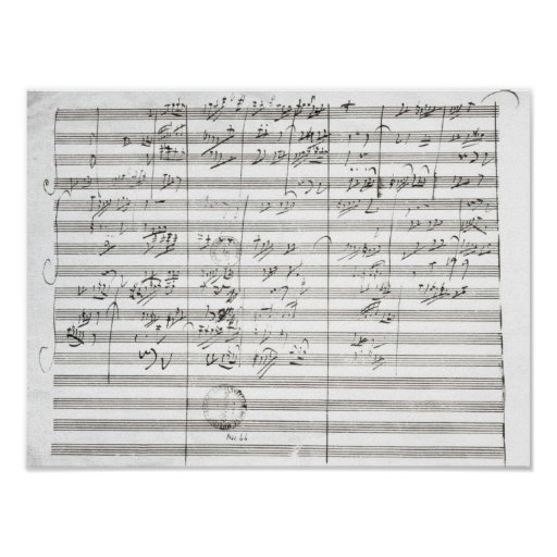 Score for the 3rd Movement of the 5th Symphony Poster