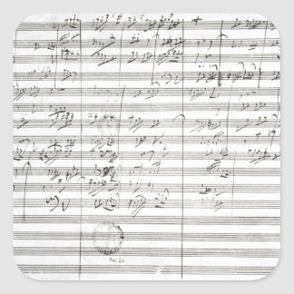 Score for the 3rd Movement of the 5th Symphony Square Sticker