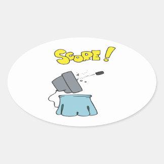 Score Oval Sticker