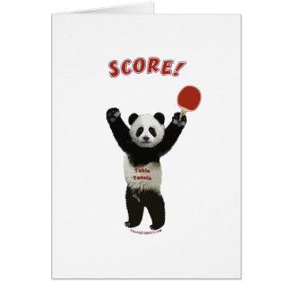 Score Panda Ping Pong Cards