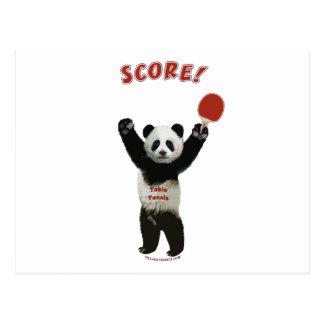 Score Panda Ping Pong Postcard