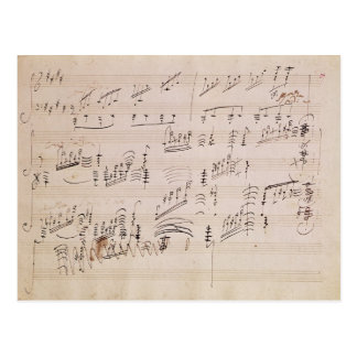 Score sheet of 'Moonlight Sonata' Postcard