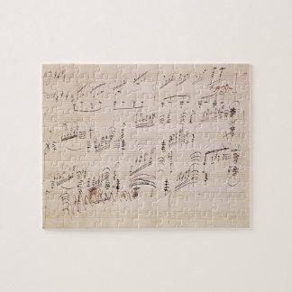 Score sheet of 'Moonlight Sonata' Puzzle